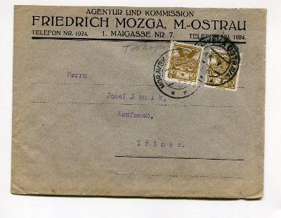 OSTRAVA - ŽID FRIEDRICH MOZGA - AGENTURA 192?/AT 85