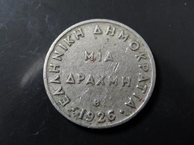 1 Drachma 1926, Řecko.