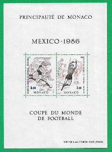 MONAKO 1986 ** Football World Cup 1986, Mexico ** MNH Michel MC BL33