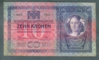 10 korun 1904 serie 2535 bez přetisku