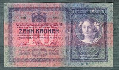 10 korun 1904 serie 2853 bez přetisku