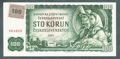 100 kčs 1961 KOLEK stav UNC