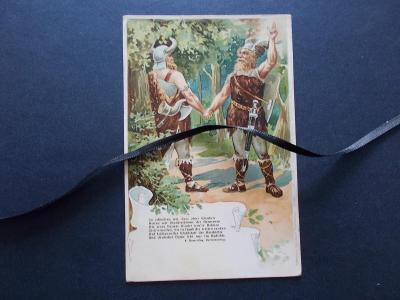 Varnsdorf alegorie Německý spolek v Čechách propaganda Germáni litogr