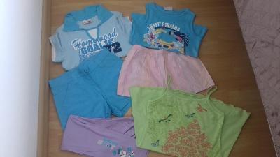 Set dívčí vel. 128 kraťasy trička šaty