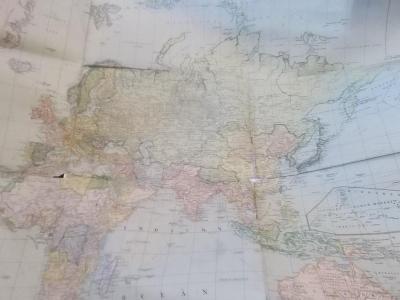 Neubertova politická a komunikační mapa světa  protektorát,cca 1939/40