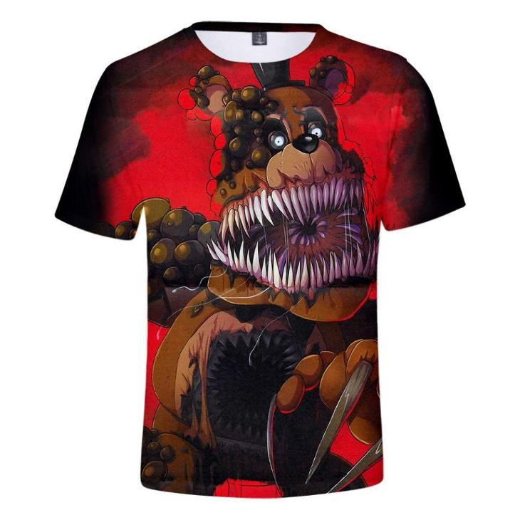 Five Nights At Freddy's - dětské tričko s 3D potiskem, různé velikosti - Oblečení