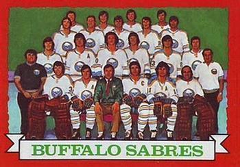 BUFFALO SABRES @ 1973-74 Topps Team card - Sportovní sbírky