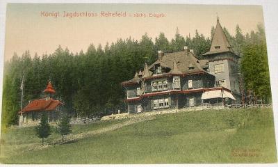 Německo - Krušné hory Jagdschloss Rehefeld