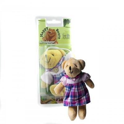 Osvěžovač vzduchu do auta - Happy Bear Miss (květinový)
