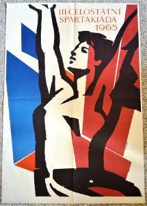 III. celostátní spartakiáda 1965 / plakát /  autor PAUKERT