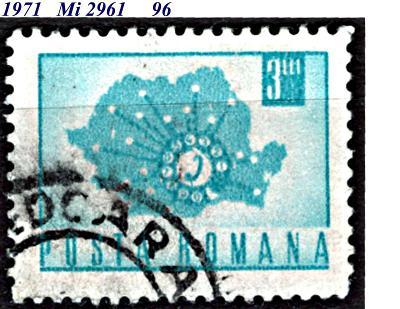 Rumunsko  1971, mapa s telefonním číselníkem