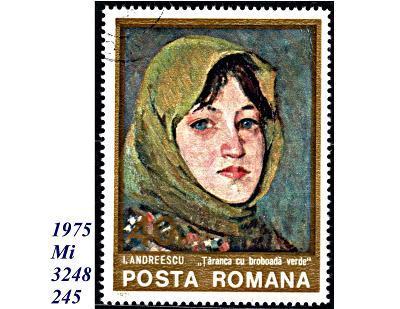 Rumunsko  1975, selka v zeleném šátku