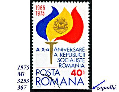 Rumunsko 1975, plameny se znakem