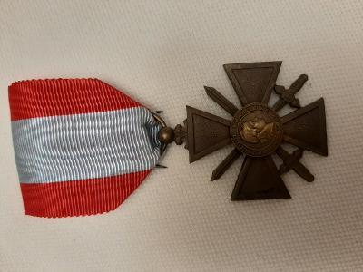 Francie - Válečný kříž 1939 pro zahraniční operace TOE