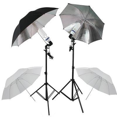 2x Deštníková světla E27, 84cm, kompletní set