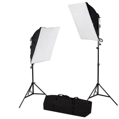 2x SoftBox s paticí pro E27, 50x70cm, kompletní set