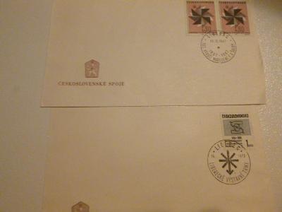 2 x razítko : LIBEREC F. X. ŠALDA 1867-1967 a Výstavní trhy 1972