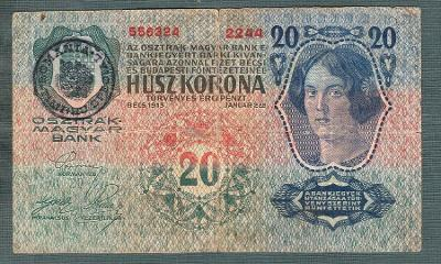 20 korun 1913 RAZÍTKO ROMANIA RUMUNSKO