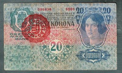 20 korun 1913 RAZÍTKO MAĎARSKO