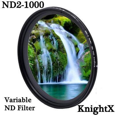 Variabilní ND filtr 2-1000 KnightX   52, 55, 58, 62, 67, 72, 77mm
