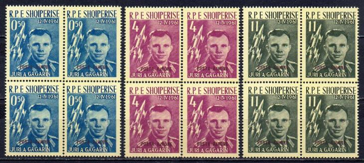 Albánie-J.A.Gagarin 1962**  Mi.647a-649a/čtyřbloky/ 360 € - Filatelie