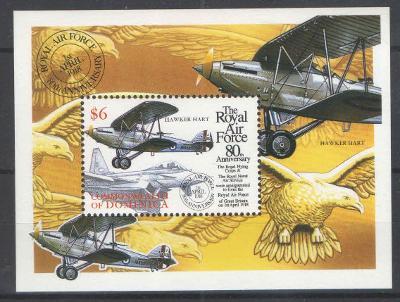 ** DOMINICA aršík letadlo dravec. RAF 1998