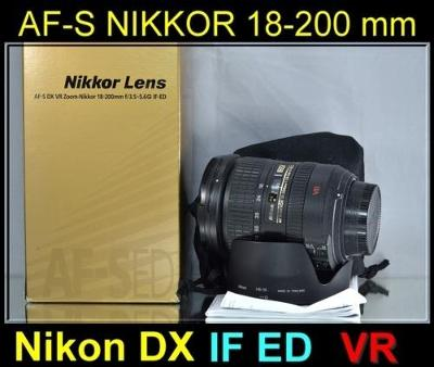 💥 NIKON AF-S DX NIKKOR 18-200mm  f/3.5-5.6 G IF ED VR ***TOP***