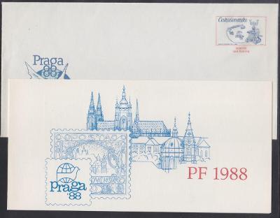 SLUŽEBNÍ CELINOVÁ OBÁLKA 1987 č.: CSO5 včetně přílohy PRAGA - LEVNĚ !!