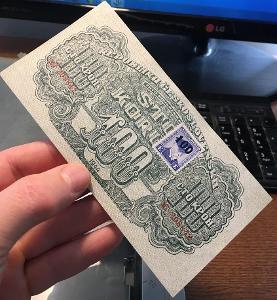 100 korun 1944 KOLEK NEPERFOROVANA stav UNC !!