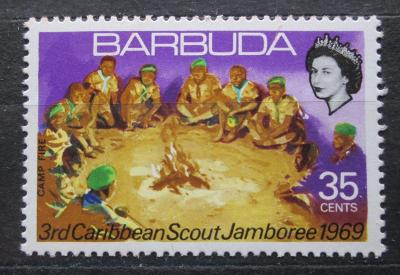 Barbuda 1969 Skauti u ohně Mi# 36 1966