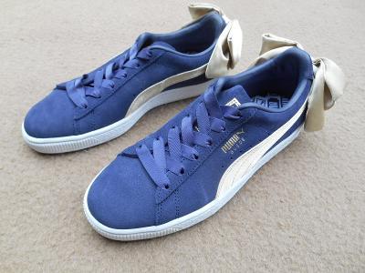 Nové dámské boty - tenisky zn.: PUMA Suede Bow vel. 38
