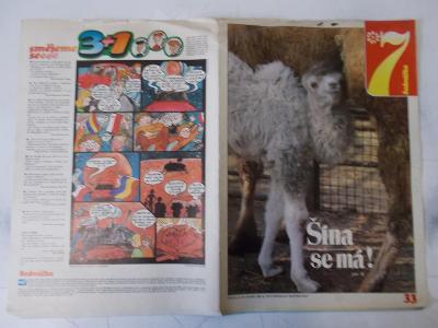 Časopis Sedmička Pionýrů komiks Jackson Swayze Bílá Paní Miss Těšín