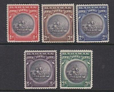 Bahamy 1930 - komplet, 300. výročí kolonie 70£