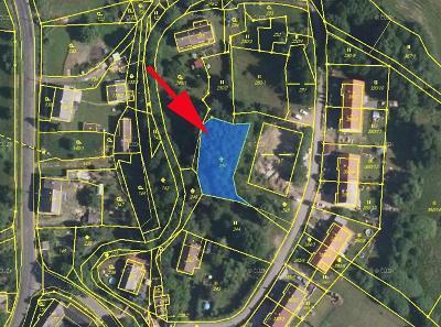 Prodej zahrady 889 m² Žandov - Valteřice, okres Česká Lípa (75 Kč/m2)
