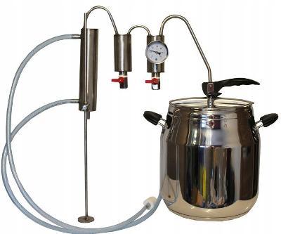 Destilační přístroj Ocel 12 L + Termometr Právy nebo Levý