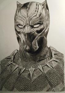 Kresba Black Panther