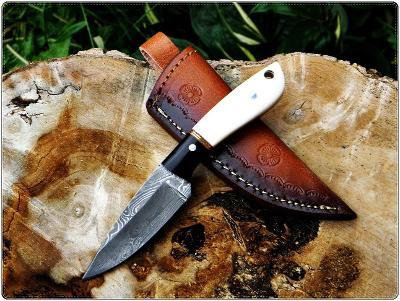 80/ Damaškový lovecky nůž. Rucni vyroba