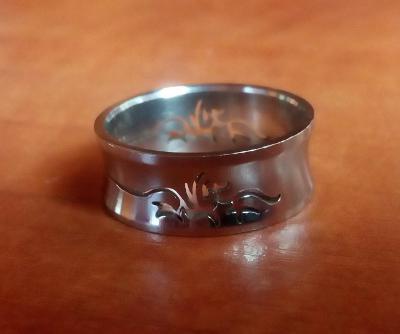 Pánský prsten, postříbřený