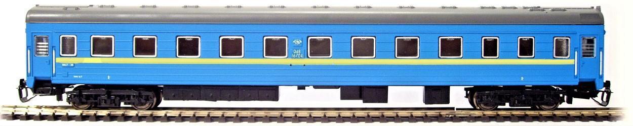 TT-MODEL 2036 Osobní vůz 1. třídy modrý UZ Ukrajina Ep.V / TT 1:120