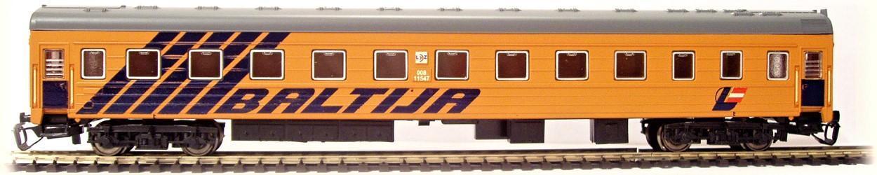 TT-MODEL 2050 Osobní vůz 1. třídy BALTIJA LDZ Lotyšsko Ep.V / TT 1:120