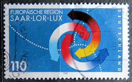 DEUTSCHLAND: MiNr.1957 3rd Saar-Lorraine-Luxembourg Summit 110pf 1997