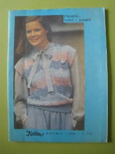 časopis KVĚTEN - plnoletá - č.113 - 2/1986 - foto v popisu