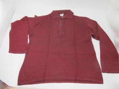 RETRO Pánská bavlněná košile tričko  asi vel. 53 dlouhý rukáv zn. Haca