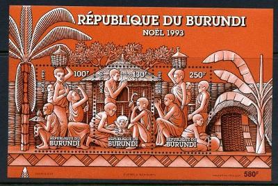 Burundi 1993 Vánoce Mi# Block 135 Kat 7.50€ 1985