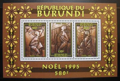 Burundi 1995 Vánoce Mi# Block 138 Kat 7€ 1985
