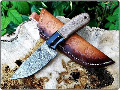 92/ Damaškový lovecky nůž. Rucni vyroba