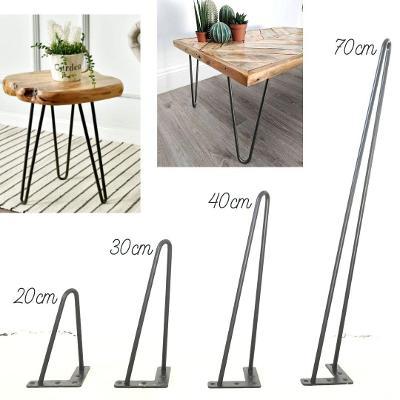Kovové Hairpin Nohy Podnože 4 rozměry DIY, Výška 40 cm