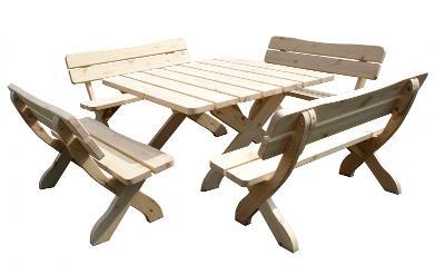 Dřevěný zahradní nábytek Oland 04 trim