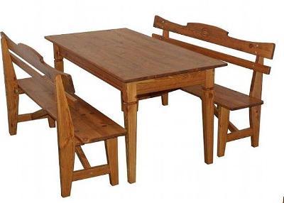 Dřevěný zahradní nábytek 2+1 Mieszko trim