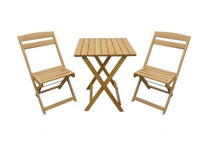 Dřevěný zahradní balkonový nábytek Krokus trim